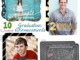 Unique High School Graduation Invitations 10 Unique Graduation Announcements Tinyprintsgrad A Mom