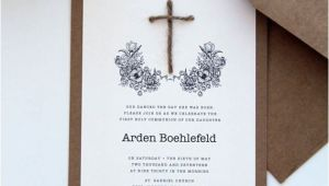 Unique Invitation for Baptism Rustic Baptism Invitations Christening Invitation First