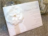 Unique Invitation Ideas for Baptism Hanna Ivory Pearl Lace Baptism Invitation Unique Flower