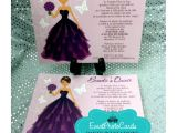 Unique Invitations for Quinceaneras Unique Quince Invitations with Doll