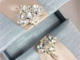 Unique Luxury Wedding Invitations Adorned with Embellishments Mystic Blue Custom Invitation Box with Luxury Diamond