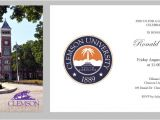 University Of south Carolina Graduation Invitations Clemson University