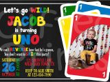 Uno Party Invitations Birthday Invitation Uno theme