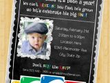 Uno Party Invitations Uno Birthday Invite First Birthday Invitation Diy