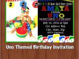 Uno Party Invitations Uno themed Birthday Party Invitation Uno One Year Old