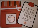 Ut Graduation Invitations A Pocket Card College Graduation Announcement for Ut