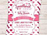 Valentine Baby Shower Invitations Printable Little Sweetheart Baby Shower Invitation