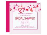 Valentine Bridal Shower Invitations Modern Valentine Hearts Bridal Shower Invitation Zazzle