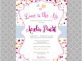 Valentine Bridal Shower Invitations Valentines Bridal Shower Invitation Hearts themed