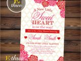 Valentine S Day Baby Shower Invitations Printable Valentine S Baby Shower Invitation Red and
