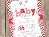 Valentine S Day Baby Shower Invitations Valentine S Day Baby Shower Invitation Pink Red