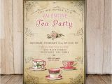 Valentine Tea Party Invitations Free Bridal Shower Tea Party Invitation by Printablemiracles