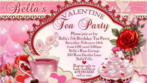 Valentine Tea Party Invitations Free Valentine Tea Party Invitation Valentines Day Party Tea