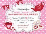 Valentine Tea Party Invitations Free Valentine Tea Party Invitation You Print
