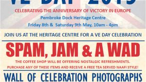 Ve Day Party Invitation Template Char and A Wad to Celebrate Victory Pembroke Dock
