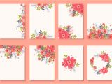 Vector Flowers for Wedding Invitations Floral Wedding Invitation Card Vectors Download Free