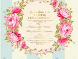 Vector Flowers for Wedding Invitations Wedding Invitation Card Color Flowers Vector Stock Vector