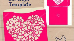 Vector Wedding Invitation Envelope Template Lasercut Vector Wedding Invitation Template Wedding