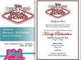 Vegas Bridal Shower Invitations Bridal Shower Invitation Las Vegas Digital Download Diy