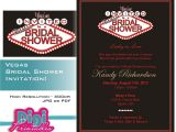 Vegas Bridal Shower Invitations Las Vegas themed Wedding Shower Invitations