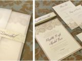 Vellum Wrap for Wedding Invitations Lace Invitation with Belly Band and Vellum Wrap Dirty