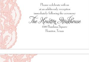 Verbiage for Wedding Invitations Adults Only Wedding Invitation Wording Invitations by Dawn