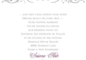 Verbiage for Wedding Invitations Fairy Tale Wedding Invitation Wording Invitations by Dawn