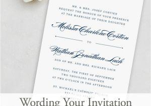 Verbiage for Wedding Invitations Wedding Invitation Wording Magnetstreet Weddings