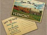Vermont Wedding Invitations Vermont Save the Date Postcards Printable Vintage Vermont
