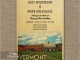 Vermont Wedding Invitations Vermont Wedding Invitation Printed Nifty Printables