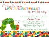 Very Hungry Caterpillar Baby Shower Invitations the Very Hungry Caterpillar themed Baby Shower Invitation