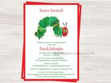 Very Hungry Caterpillar Baby Shower Invitations Very Hungry Caterpillar Baby Shower Invitation