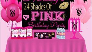 Victoria Secret Birthday Invitation Template Victoria Secret Pink Birthday Party Pdf Love Pink theme
