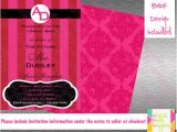 Victoria Secret Bridal Shower Invitations Victoria Secret Inspired Bridal Shower Invitation