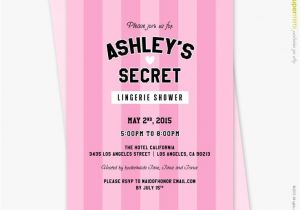 Victoria Secret Bridal Shower Invitations Victorias Secret Pink Black theme Lingerie Bridal Shower