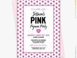 Victoria Secret Bridal Shower Invitations Victorias Secret Pink Polka Dots theme Lingerie Bridal