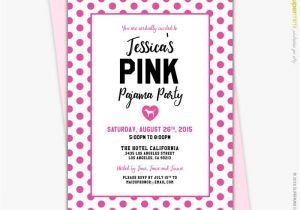 Victoria Secret Bridal Shower Invitations Victorias Secret Pink Polka Dots theme Lingerie Bridal