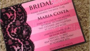 Victoria Secret themed Bridal Shower Invitations Victoria Secret themed Bridal Shower Invitation