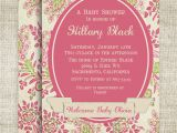 Victorian Baby Shower Invitations Girl Baby Shower or Birthday Invitations by Cardtopia Pany