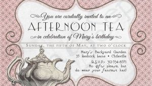 Victorian Tea Party Invitation Template Printable Tea Party Birthday Shower Invitation 4 25 X 5
