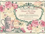 Victorian Tea Party Invitation Wording Tea Party Invitation Bridal Tea Party Garden Tea Party