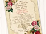 Victorian Tea Party Invitation Wording Victorian Celebration Of Life Invitation Classic Victorian