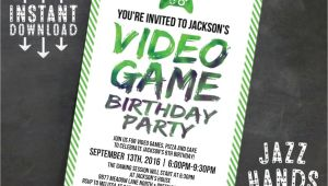 Video Game Birthday Invitation Template Printable Video Game Birthday Invitation Template Diy
