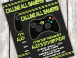 Video Game Birthday Party Invitation Template Free Gamer Invitation Video Game Birthday Party Diy Printable