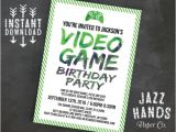 Video Game Birthday Party Invitation Template Free Printable Video Game Birthday Invitation Template Diy