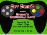 Video Game Birthday Party Invitation Template Free Video Game Birthday Invitations Ideas Bagvania Free