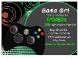 Video Game Birthday Party Invitation Template Free Video Game Invite Game Party Invitation Gamer Video Game