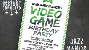 Video Game Party Invitation Template Printable Video Game Birthday Invitation Template Diy