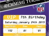 Viking Party Invitations Nfl Minnesota Vikings Birthday Invitation Kustom Kreations