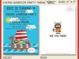 Viking Party Invitations Viking Warrior Birthday Party Invitation Boy Girl Ocean